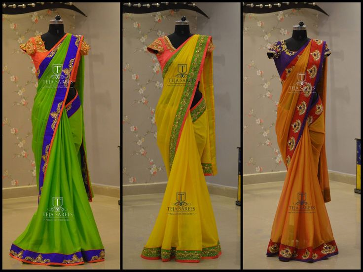 Get your self draped in one of these finest Sarees  designed for you from Team Teja !!! For queries/ price details Whats App us on 8341382382  Reach us on 8790382382 or please mail us at tejasarees@yahoo.com or Inbox us or you can Walk-in to our Store.. www.tejasarees.com  tejasarees  LikeNeverBefore  Newdesigns  create  saree  traditiona  ethnic  Stay Amazed!!! Team Teja!! 09 July 2016