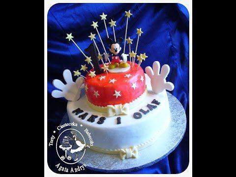 TORTY * CIASTECZKA * BABECZKI - AGATA ANDRYS: PIĘTROWY TORT NA ROCZEK Z MYSZKA MIKI / first birthday cake with Mickey Mouse