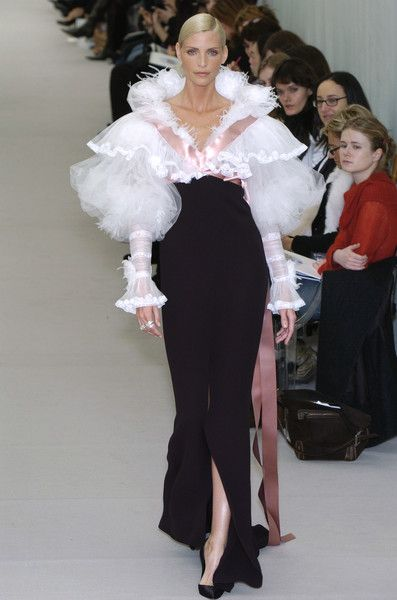 Chanel Spring 2004 Couture. Stunning in design and look who is wearing it... See Carolina of Monaco photo. B.