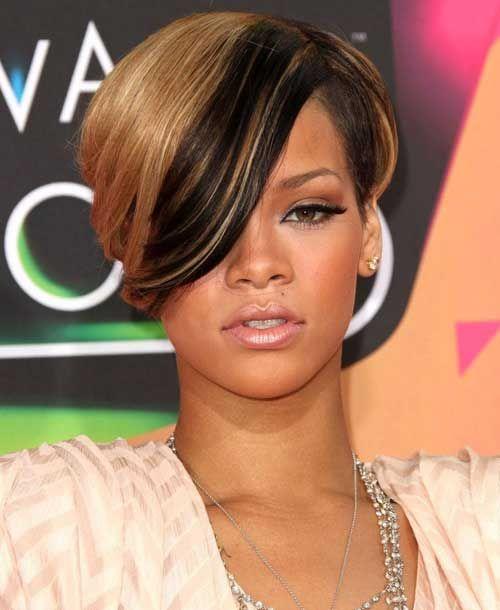 Outstanding 1000 Ideas About Rihanna Short Haircut On Pinterest Black Bob Short Hairstyles For Black Women Fulllsitofus