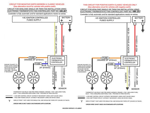Wiring Diagram For Electronic Cooling Fan Installation