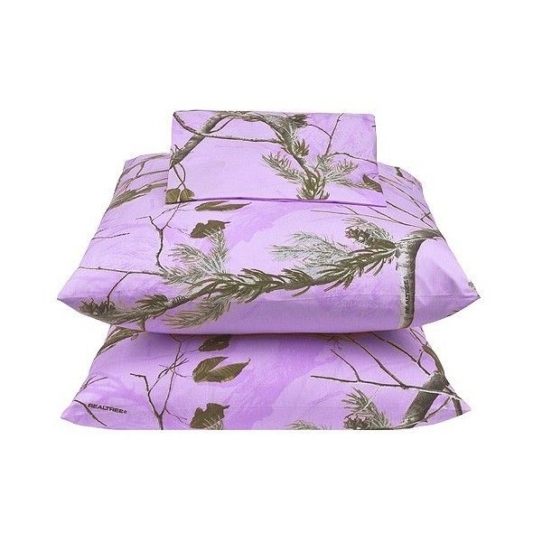 Realtree Sheet Set - Lavender ($56) ❤ liked on Polyvore featuring home, bed & bath, bedding, bed sheets, purple, camouflage twin sheet set, king size flat sheet, king size sheet sets, king pillowcase e purple twin sheet set