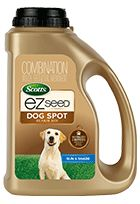 Unique mix of Scotts best grass seed, a neutralizing ingredient, and a super absorbent growing material. Special salt neutralizer minimizes the effects of salts from dog urine. Repairs urine spots, high traffic areas, and damage from digging. Growing material absorbs water like a sponge to surround the seed in a moist layer which protects seed from drying out and dying out. EZ Seed® Dog Spot Repair Mix is made from renewable resources and is 99.9% biodegradable.