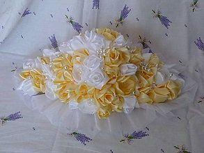 Kytice pre nevestu - Ikebana na svadobný stôl - 6606301_