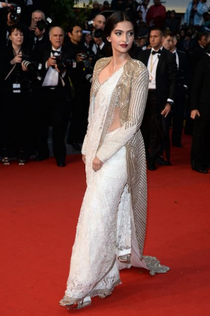 Sonam on the Cannes red carpet.