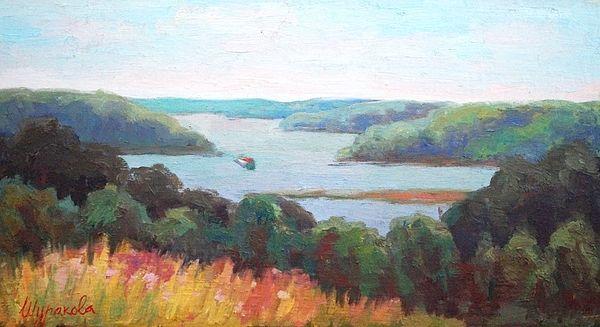 #River, # sky, #nature, #space, #beauty, #green, #turquoise, #island, #print, #popular, #annashurakova