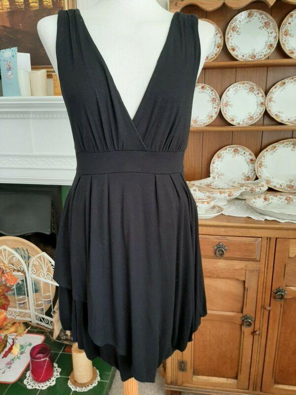 Details About New Look Black Summer Dress Size14 In 2020 Summer Black Dress Short Sleeve Summer Dresses Summer Dresses Uk