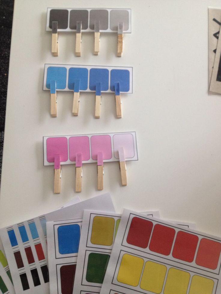 Nuancier de couleurs Montessori - Boîte N°3