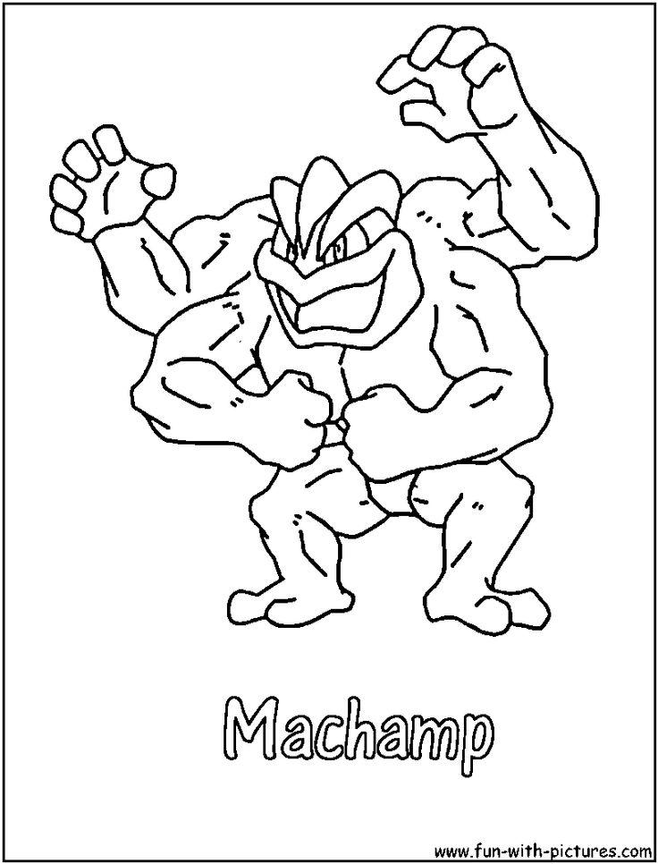 #coloring #machamp #pages #pokemon #2020 | Pokemon ...