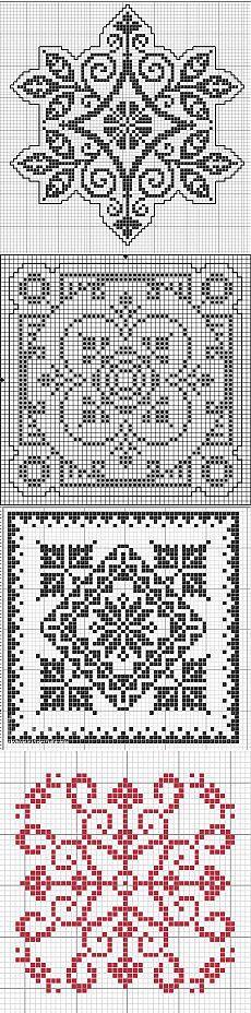 Квадратные -геометрические филейные -58 схем