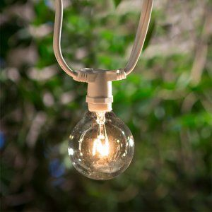 Asian Import Store Distribution Light White Wire Outdoor Patio Light Set - Outdoor Hanging Lights at Hayneedle