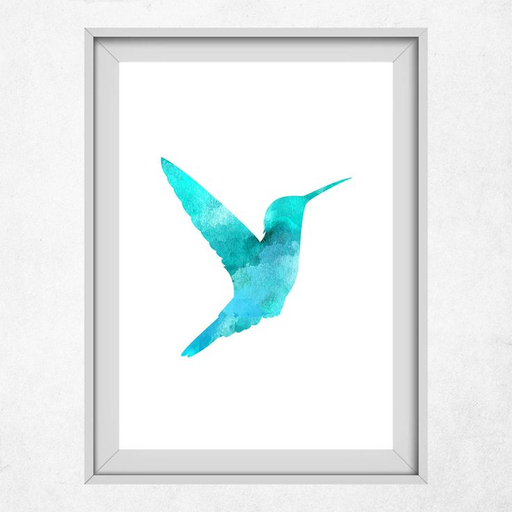 Turquoise Bird Art, Geometric Hummingbird Print, Turquoise Hummingbird, Wall Art, Nursery Print, Bird Decor, Bird Print, Blue Animals by DigitalSpot on Etsy