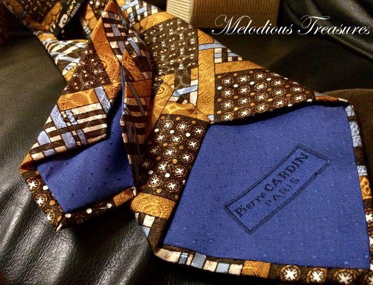 Vintage Pierre Cardin Paris Modele' Depose' Necktie - Men's Vintage Designer Ties - Paris Vintage Fashion - Pierre Cardin Silk Cravates