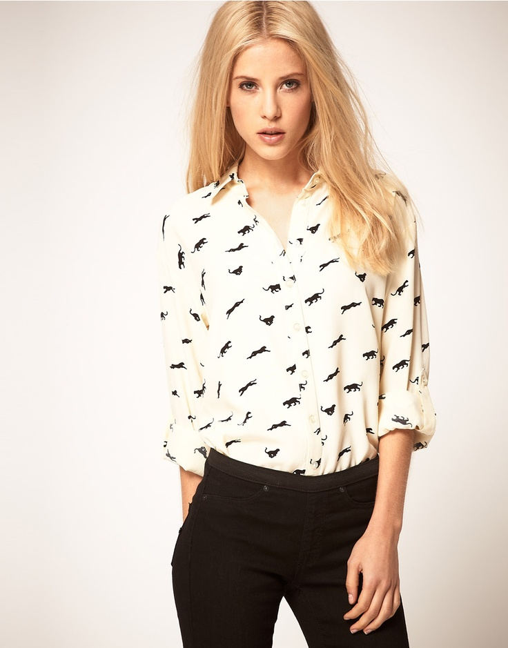ASOS shirt with panther print... love animal prints