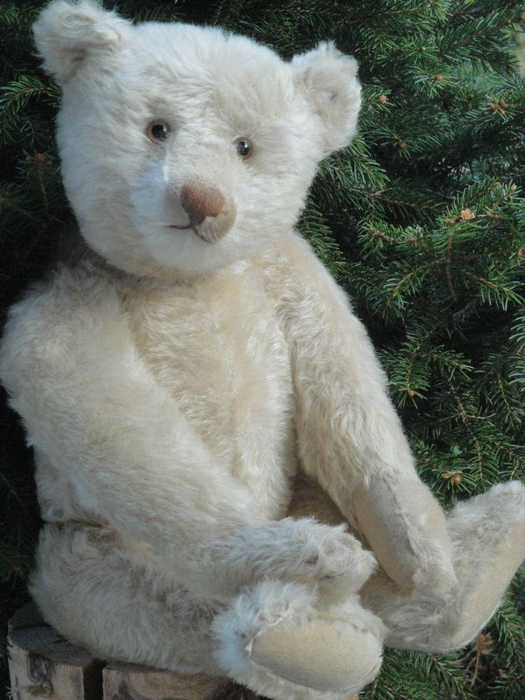 Very RARE Antique White Steiff Teddy Bear 1920 w Growler Mohair Steiff T BÄR | eBay