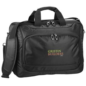 Extra protection for their computer and other features make this custom  embroidered business attache the perfect