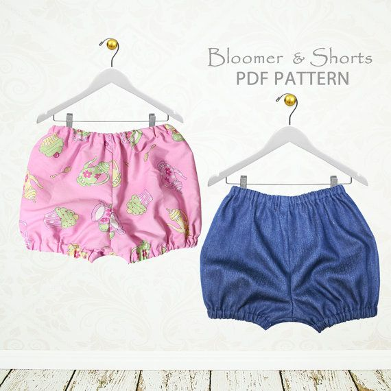 This sewing pattern is for a fast and easy unisex pair of shorts or bloomers. Most sewers could make this in under 30 minutes (sewing part