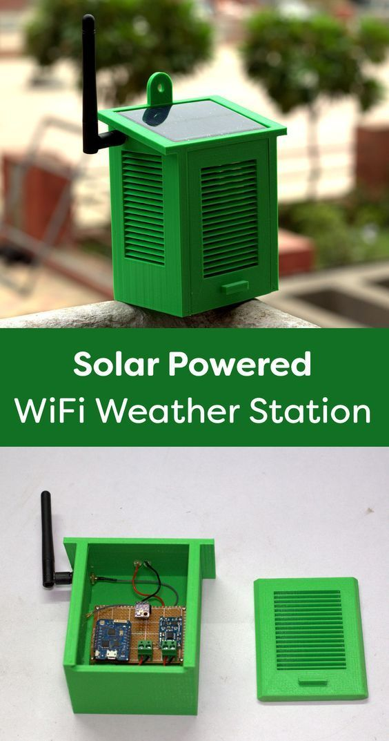 Solar Powered WiFi Weather Station V1.0