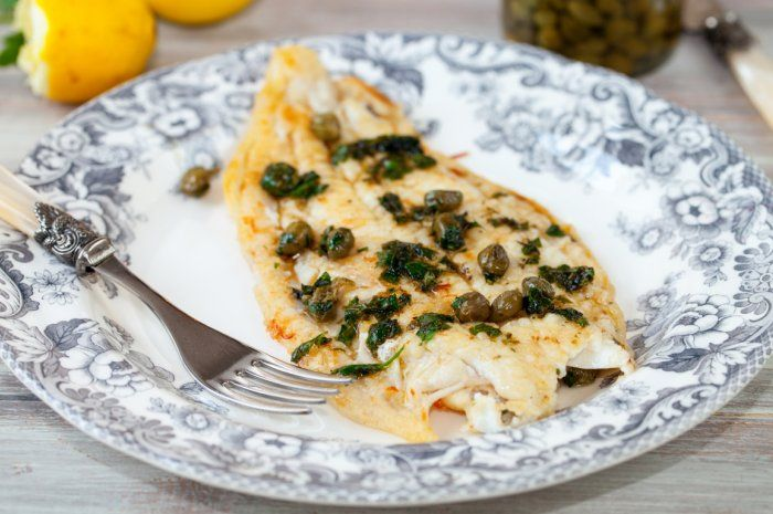 White Fish with Lemon, Capers, Mustard and Parsley from 12 Sexy Dishes for a Date Night In