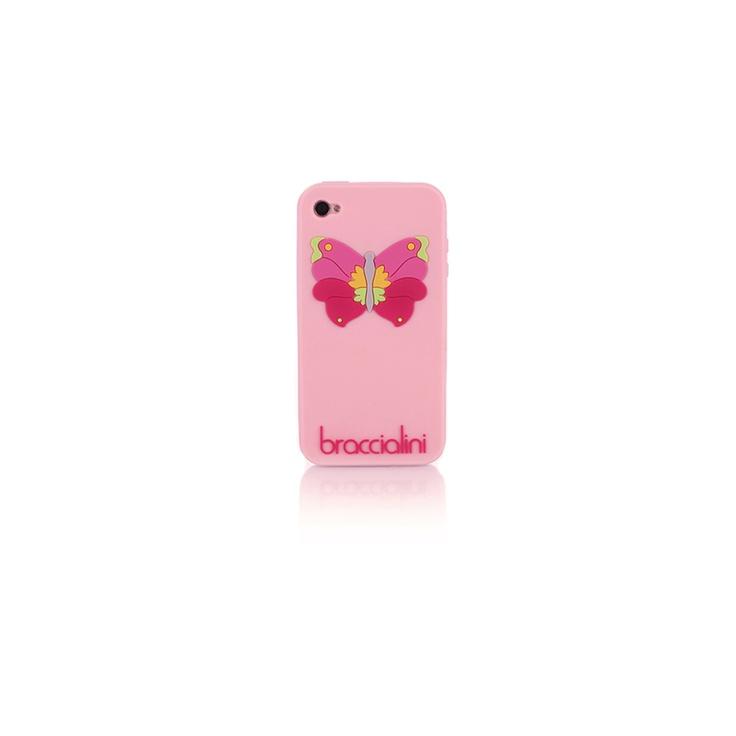 Custodia cellulare iphone cover Braccialini rosa farfalla