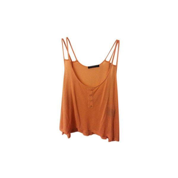 Brandy Melville Top Pinkish-peach ($13) ❤ liked on Polyvore featuring tops, shirts, tank tops, tanks, peach tank top, summer tops, brandy melville tank, brandy melville shirts and orange shirt