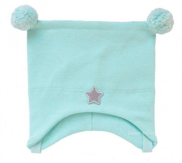 Kivat vårlue, mintgrønn med dusker og stjerne | DressMyKid.no - Barn og baby - Alltid gode tilbud