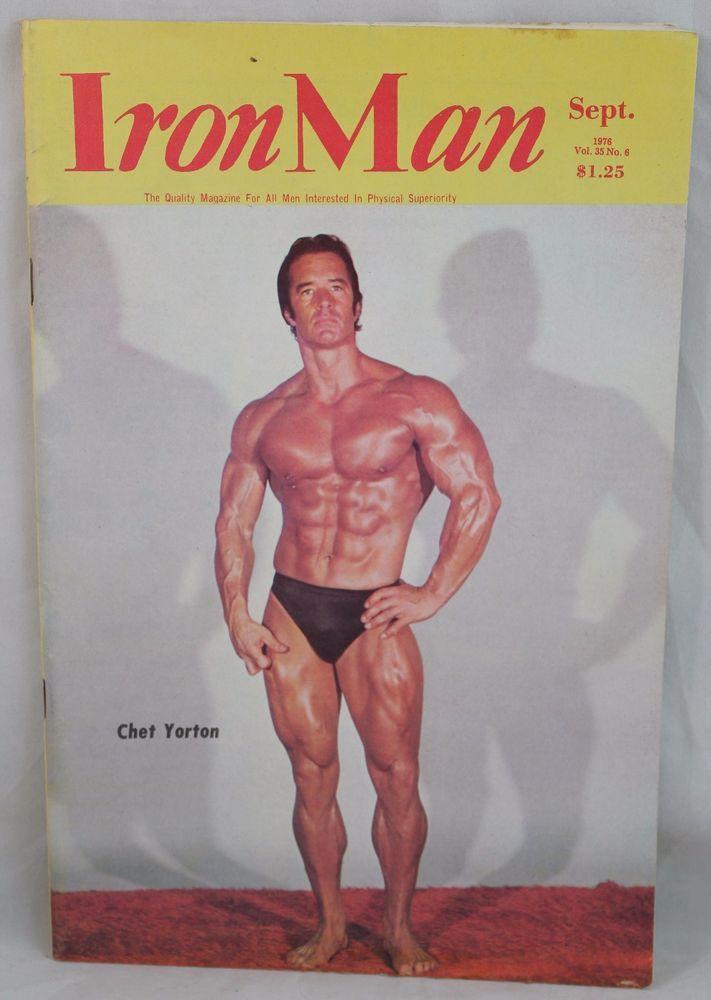 IRONMAN Body Building Muscle magazine Chet Yorkton/Steve Davis Vol 35 #6 9/1976