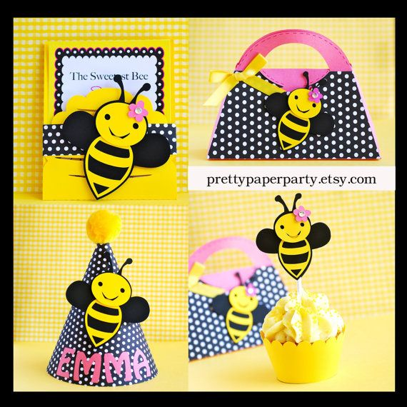 Bumble Bee Party Hat  Personalized by prettypaperparty on Etsy, $8.00