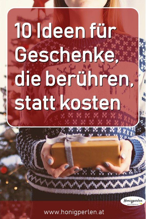 Weihnachtsgeschenke, die berühren, statt kosten #weihnachtsgeschenke ...