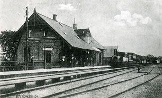 Ølstykke Station ca. 1910. Foto: Ølstykke Lokalarkiv