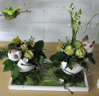 Bloemschikken Voorjaar & Pasen - Tafelstuk 1