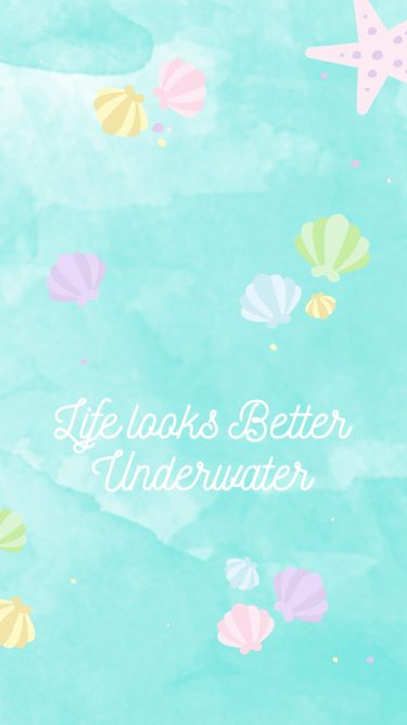 Watercolor Underwater Shells iPhone Wallpaper @PanPins