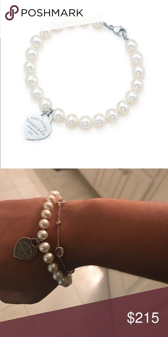 "✨Authentic Tiffany Bracelet! Pearl ""Please Return to Tiffany"" Bracelet. Mint condition with box Tiffany & Co. Jewelry Bracelets"
