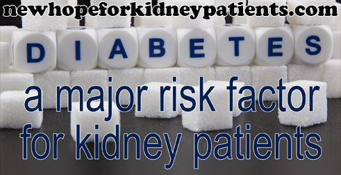 Diabetes: The Leading Danger Element For Kidney Patients Each year in the US, more than 100,000 people are diagnosed with kidney failure, and the most common cause remains...
