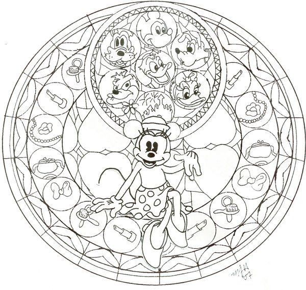 KH Minnie Stained Glass WIP By CutenCuddlyPadfoot On DeviantArt