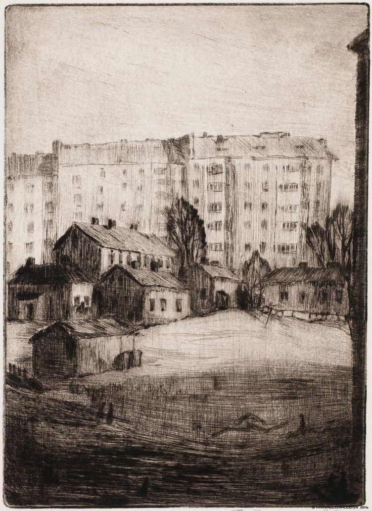 Kansallisgalleria - Taidekokoelmat - Näkymä Messeniuksenatu 7 A:n ikkunasta Tuulikki Pietilä 1938