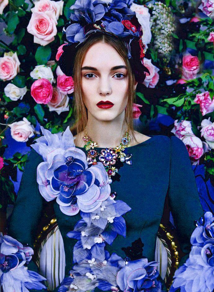 Flower Maiden Fantasy Women Amp Flowers In Art Fashion