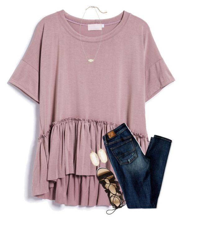 """{it was 70 degrees today!}"" by southerngirl03 ❤ liked on Polyvore featuring American Eagle Outfitters, Rebecca Minkoff and Kendra Scott"