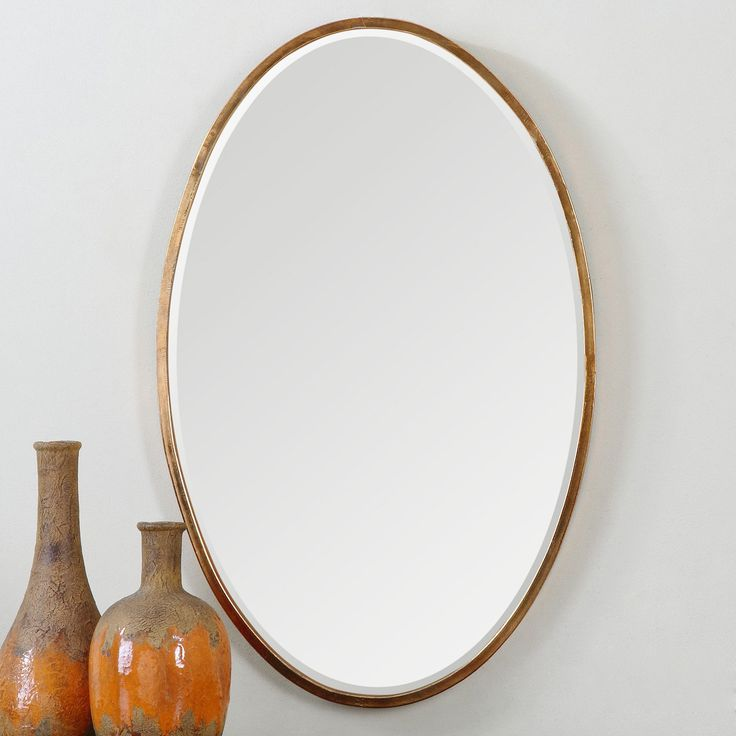 Picture Collection Website Uttermost Herleva Gold Oval Mirror x in Any space from the entryway to the master bathroom is deserving of the Uttermost Herleva Gold Oval Mirror x