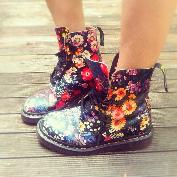 So many good memories with my vintage floral docs.
