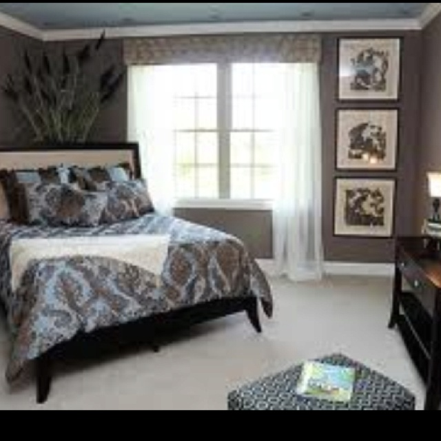 Bedroom Colors Blue And Brown