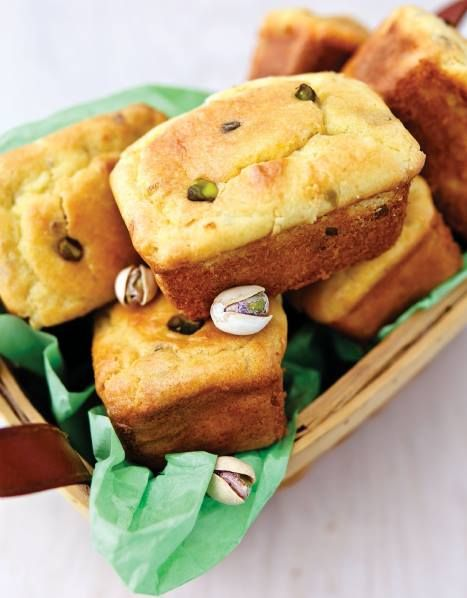 Low Carb Pistachio Pound Cake Minis... Recipe by George Stella....Low Carbing Among Friends on Facebook