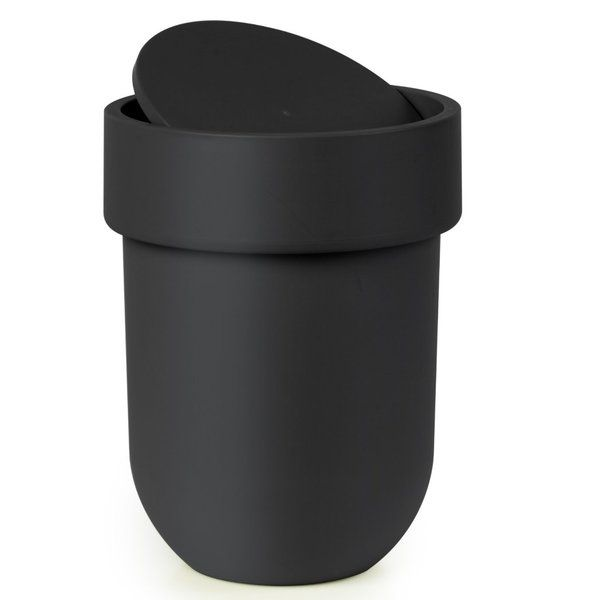 Touch Consumables Hsm Plastic 2 Gallon Swing Top Trash Can Trash Can Bathroom Trash Can Bathroom Waste Basket