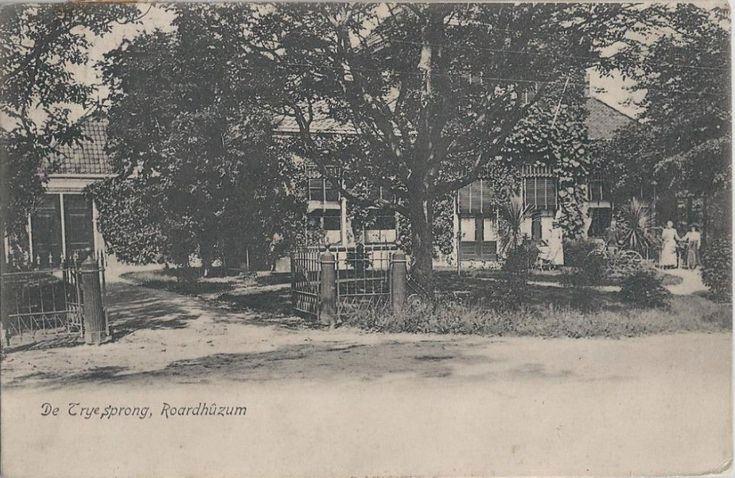 Roordahuizum - De Trije Sprong Roardhûzum - poststempel 1911