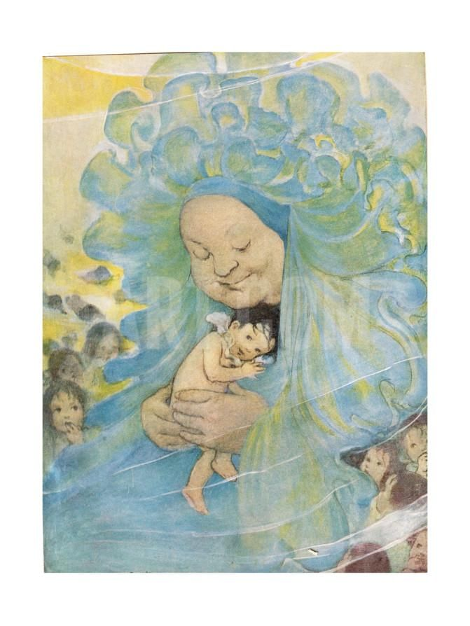 Mrs Doasyouwouldbedoneby, Illustration for 'The Water Babies' by Reverend Charles Kingsley Giclee Print by Jessie Wilcox-Smith at Art.com