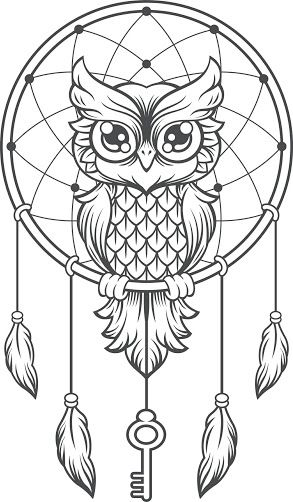 Image result for dreamcatcher owl tattoo