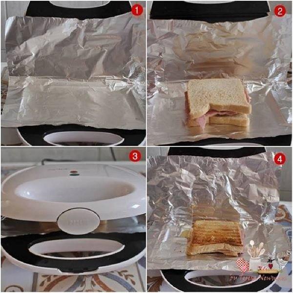 3 dicas para limpar Grills e Sanduicheiras. 1. Remova o excesso de comida que ficou grudado o quanto antes. Use uma esponja macia em água quente e uma escova de dentes velha nos cantinhos. 2. Limpe a gordura. Use folhas de papel toalha e algumas gotas de desengordurante. 3. Deixe a sua sanduicheira sempre limpa. É só colocar uma folha de papel alumínio que cubra a parte superior e inferior da chapa. http://receitatodahora.com.br/3-dicas-para-limpar-grills-e-sanduicheiras/