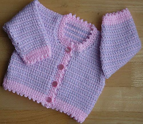 Ravelry: Babies Tunisian Cardigan Patt No.219 pattern by Kay Jones