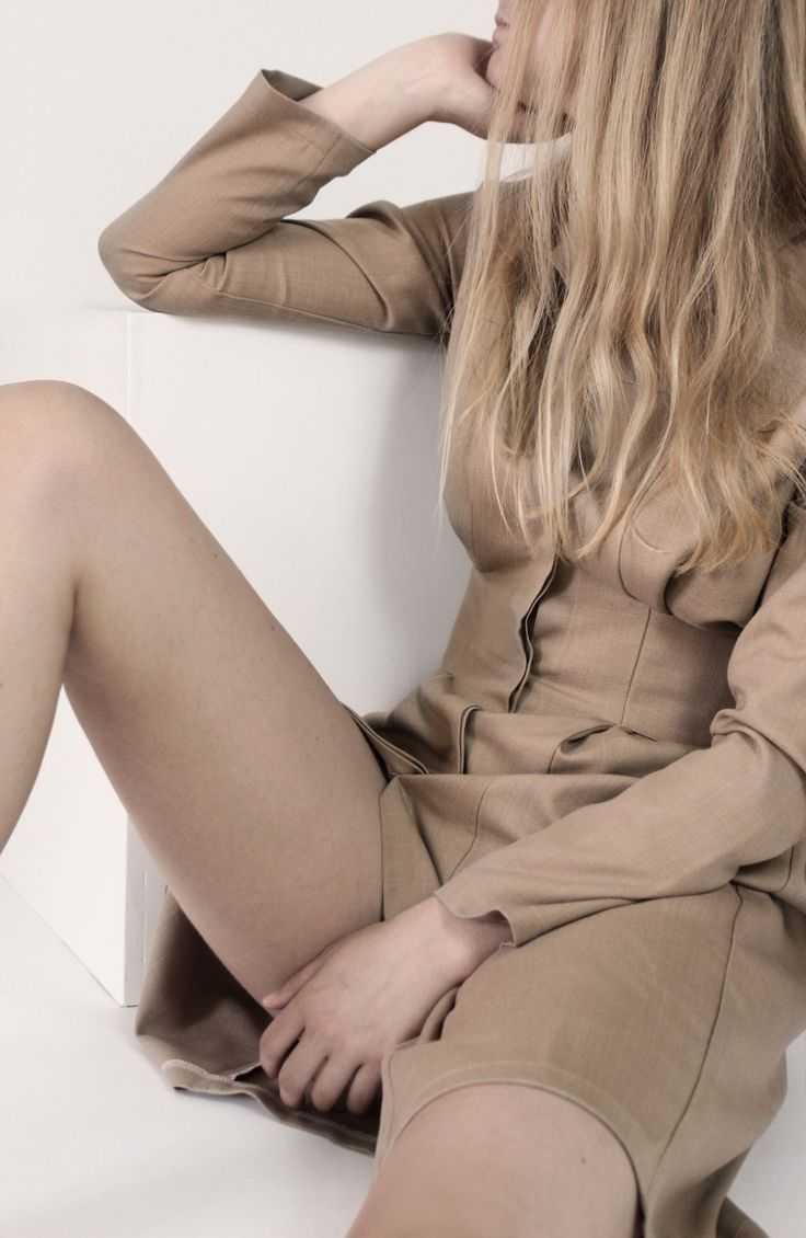 Cafe Latte Shirt Dress. Beige is a calm and down to earth color. It is a relaxing color.
