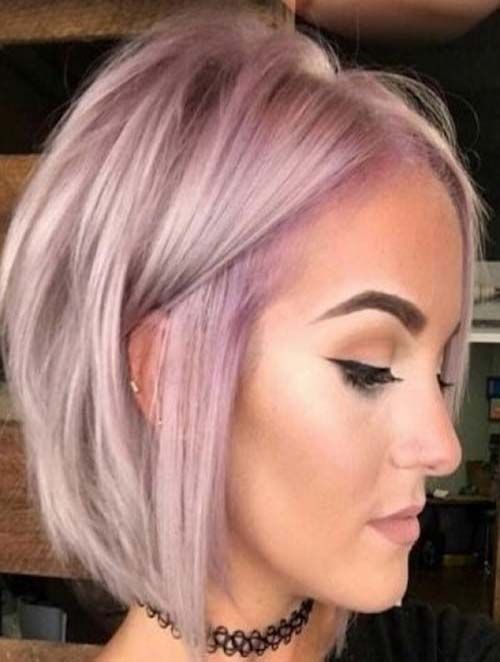 short pastel blonde bob hairstyle for thin hair – …